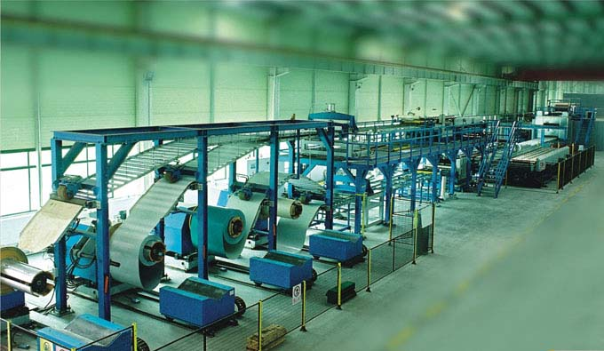 Pu Sandwich Panel Continuous Production Line Roll Forming